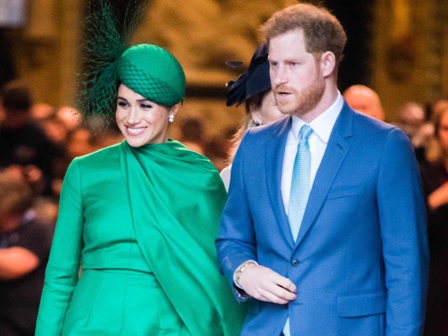 Le prince Harry, duhcesse de Sussex, et Meghan, duchesse de Sussex, assistent à la cérémonie du Commonwealth Day 2020.