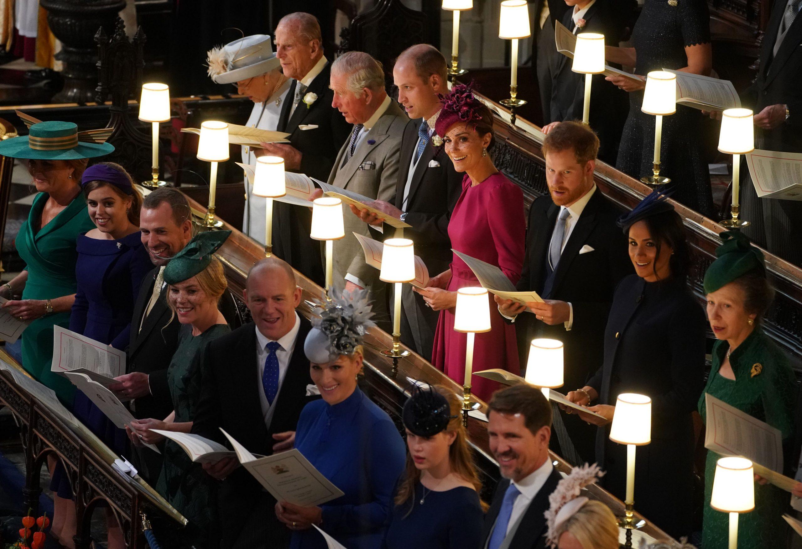 Une photo des petits-enfants de la reine lors du mariage de la princesse Eugenie en 2018.