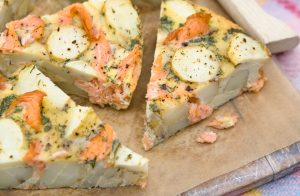 Tortilla au saumon et aux pommes de terre