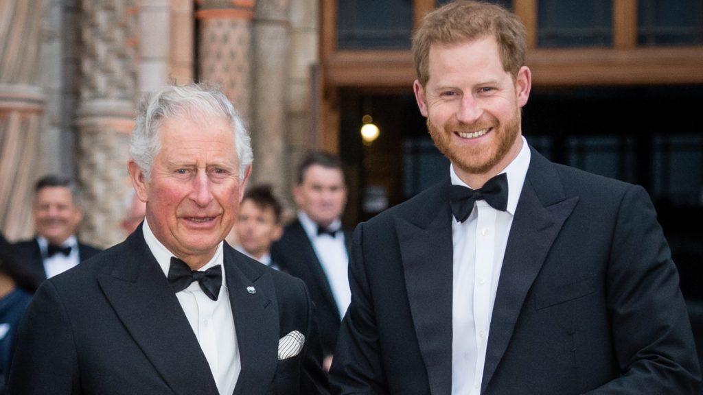 Le prince Charles, prince de Galles, et le prince Harry, duc de Sussex, assistent à la cérémonie d'ouverture de l'exposition.