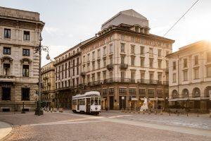Les rues vides de Milan pendant le confinement lié au coronavirus l'année dernière.