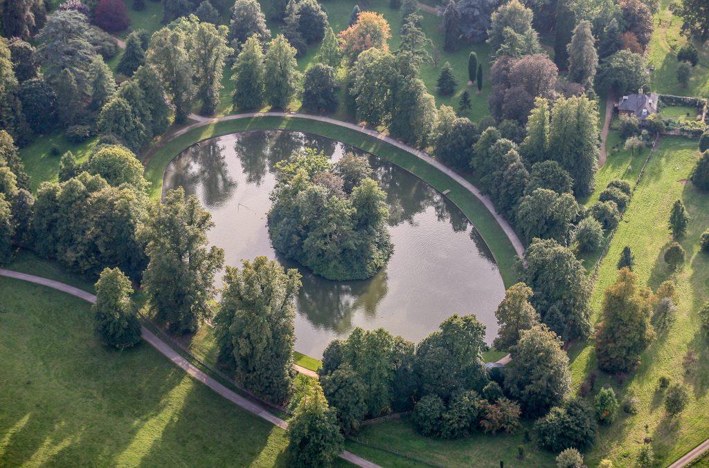 Vue aérienne du lieu de sépulture de Diana, princesse de Galles, le 9 septembre 2006.