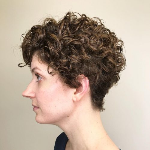 Curly Layered Pixie