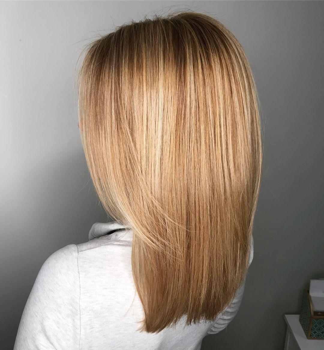 Brun doré clair sur cheveux décolorés