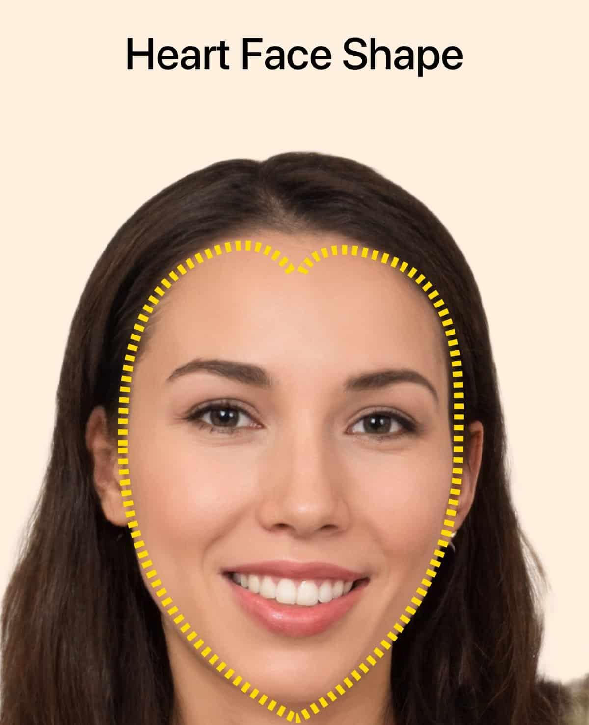 Forme de visage en cœur