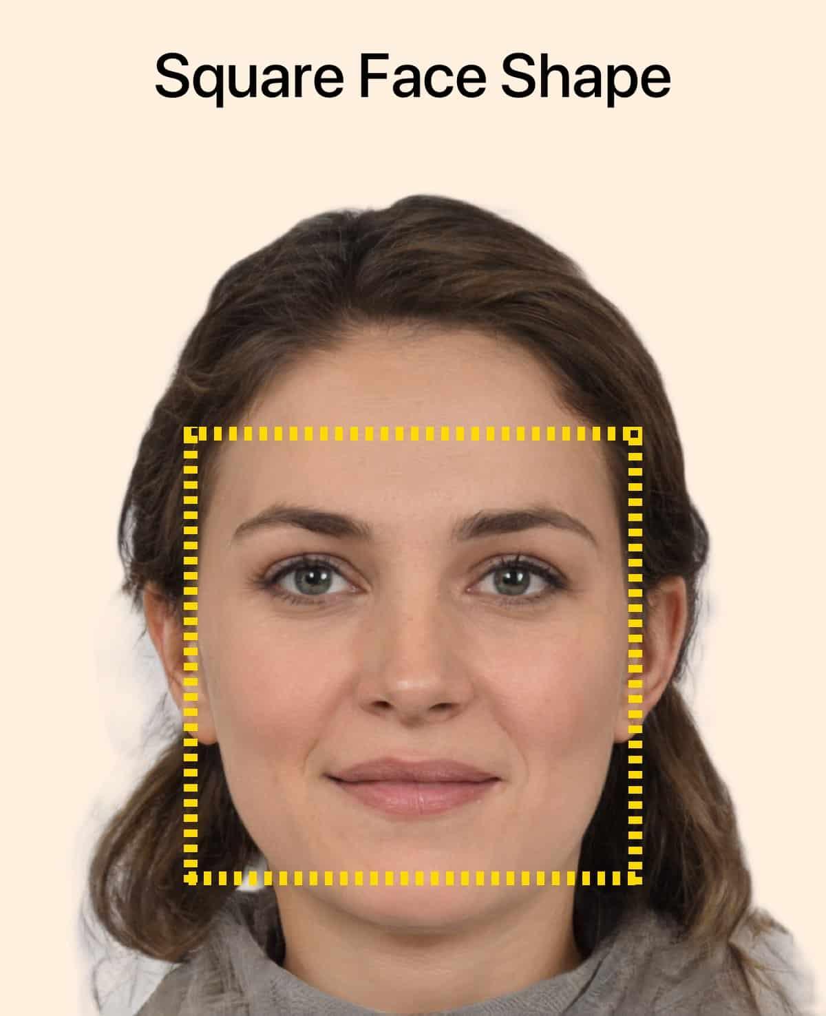 La forme carrée du visage