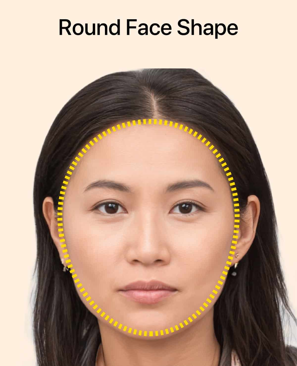 La forme du visage rond