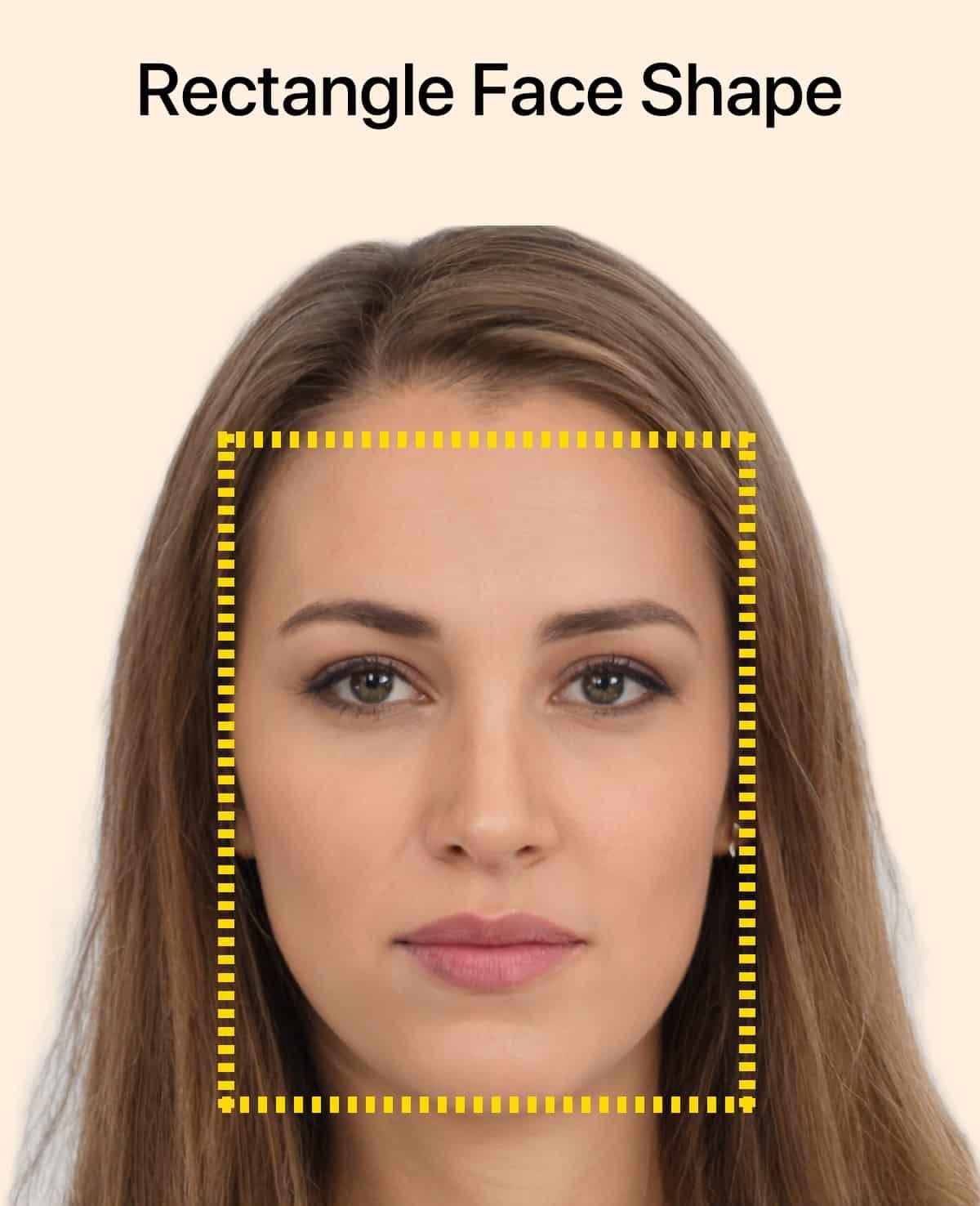 Forme de visage rectangulaire