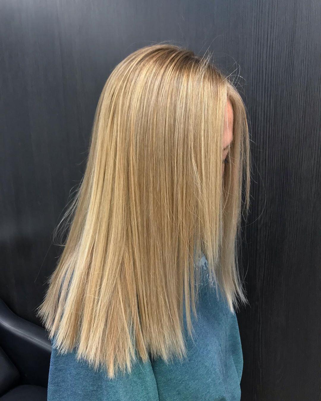 cheveux blonds beige miel