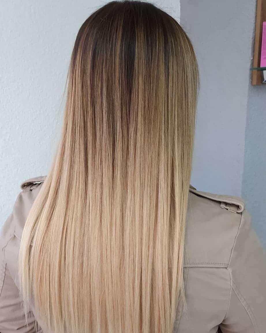 Ombre blonde beige foncé à clair