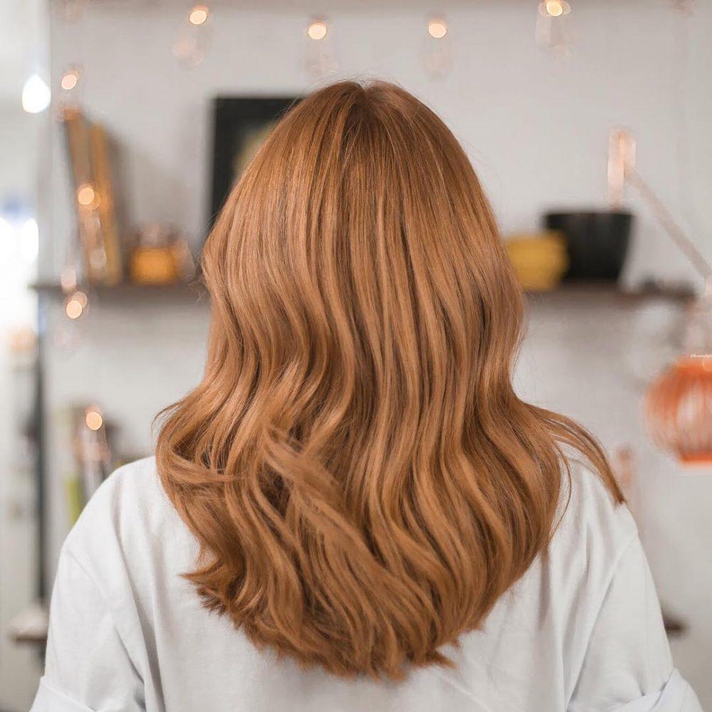 cheveux blond fraise beige