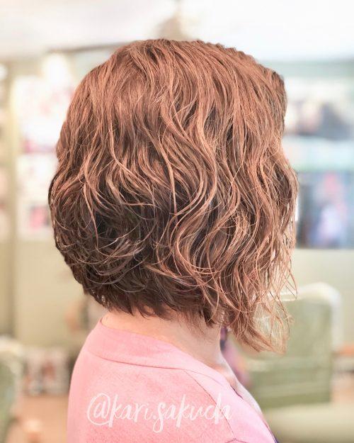 Coupe de cheveux bouclée