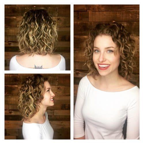 Séduisante coupe de cheveux avec des couches ondulées