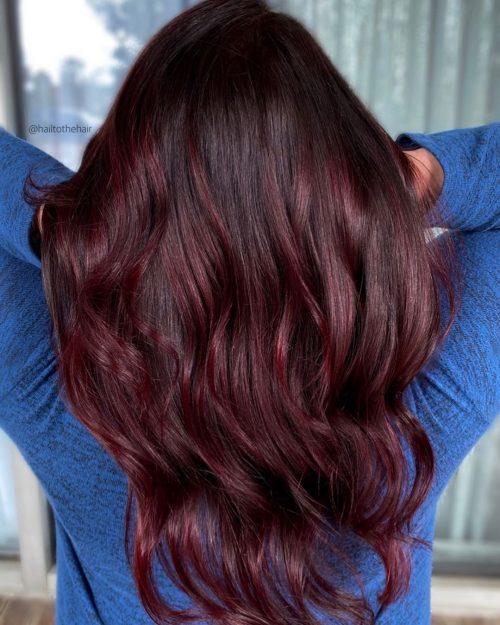 Sangria Burgundy Color Melt couleur d'automne