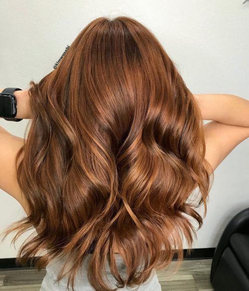 Couleur de cheveux d'automne Pumpkin Spice Hues