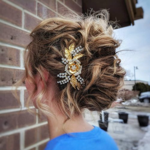 Beautiful Curly French Twist