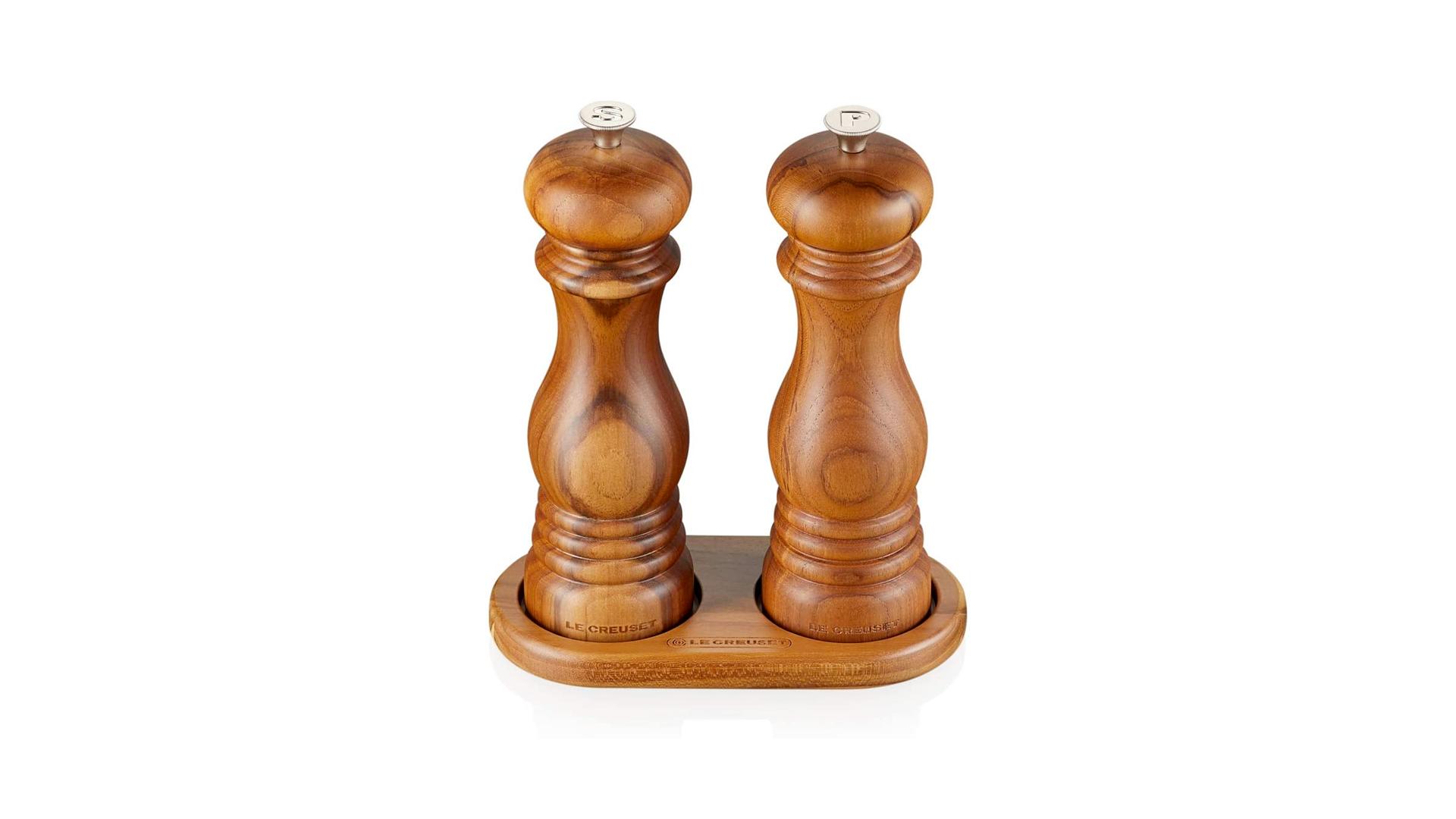 Ensemble sel et poivre en bois Le Creuset