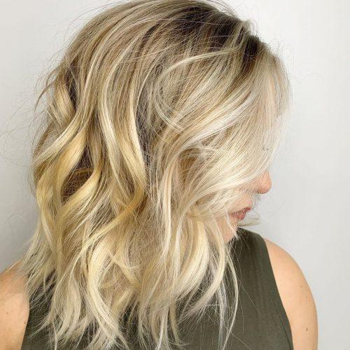 Blond clair mi-longueur