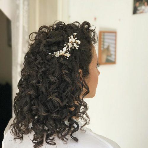 Curly Half-Up Half-Down