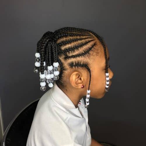 coiffure de tresses courtes pour enfants