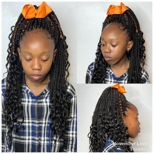coiffures tresses au crochet pour enfants