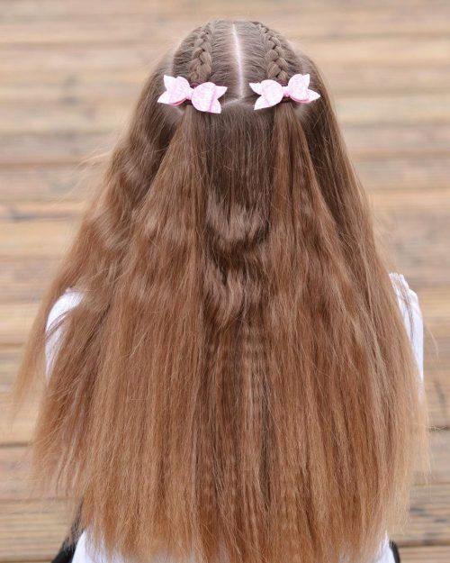 coiffure tressée facile pour les enfants