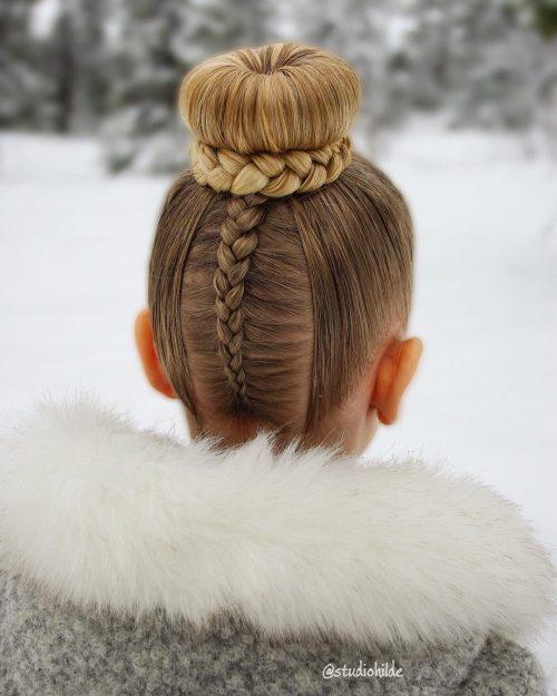 coiffures tressées pour enfants