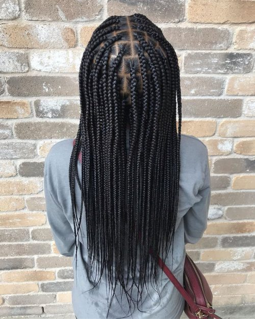 tresses pour enfants aux cheveux longs