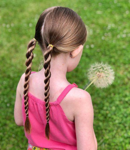 coiffures tresses torsadées pour enfants
