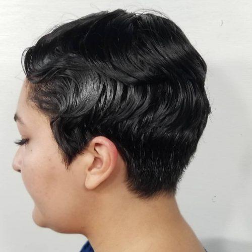 Ondes digitales pour cheveux courts