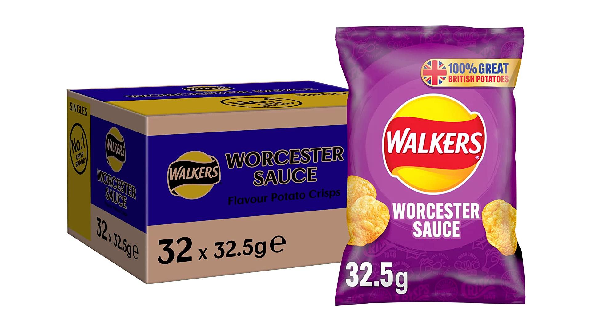 Walkers sauce Worcestercrisps