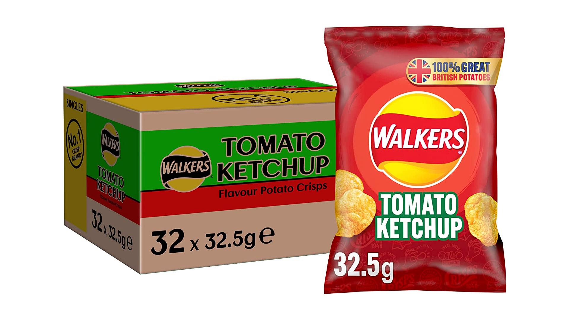 chips au ketchup de tomate Walkers