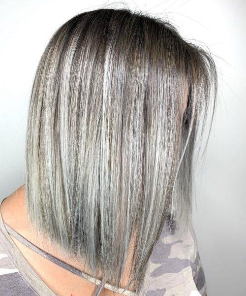 Ash Platinum Blonde Balayage