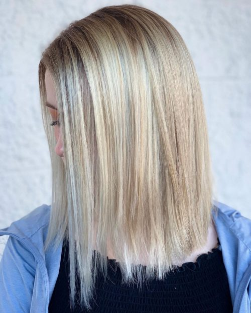 Balayage blond cendré froid