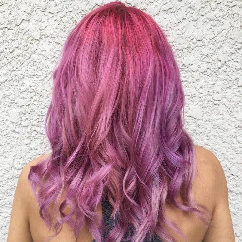 Violet clair et rose