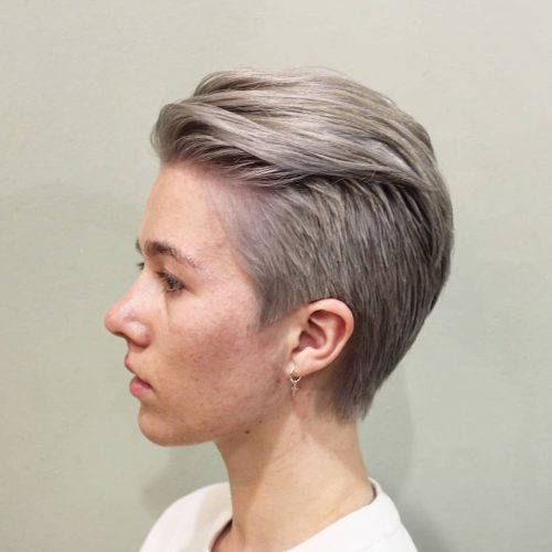 coupe androgyne pour cheveux longs