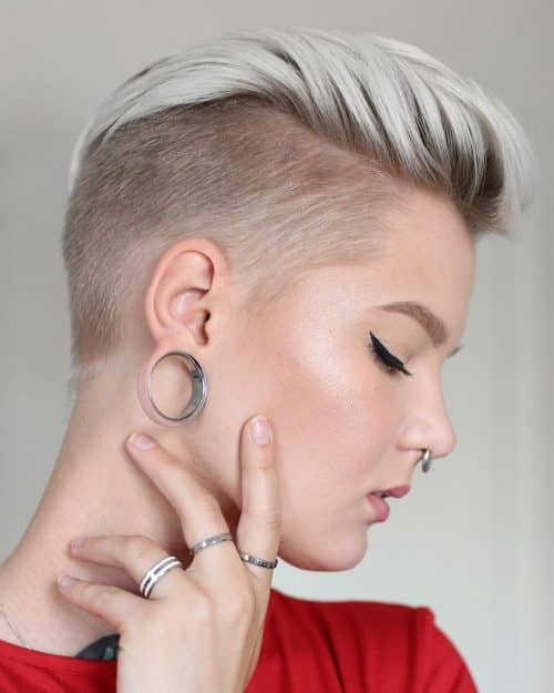 coupe androgyne avec sous-coupe