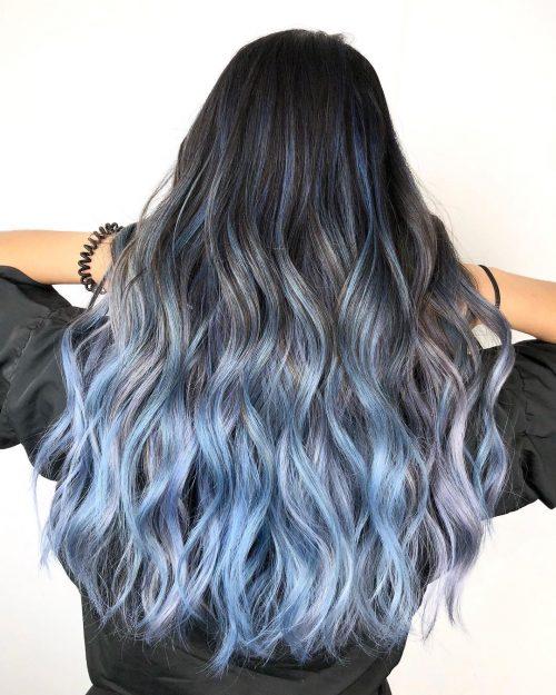 Noir à bleu