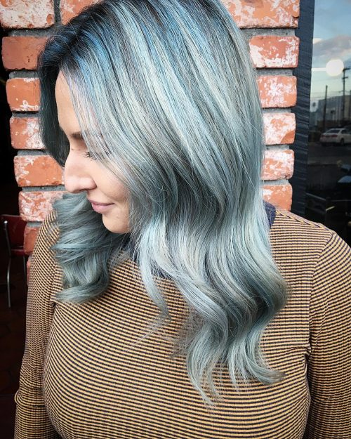 Bleu argenté