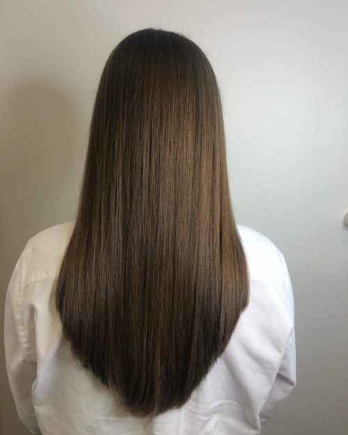 Pour les cheveux raides