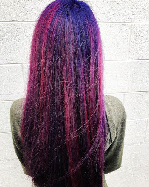 Couleur de cheveux Violet Violet