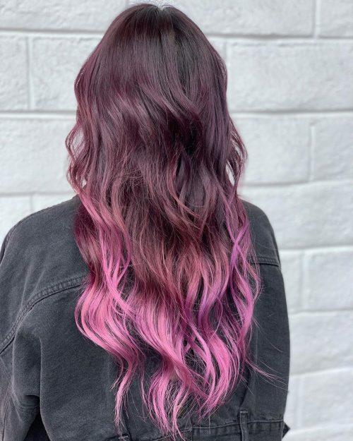 Teinture pour cheveux violet bourgogne