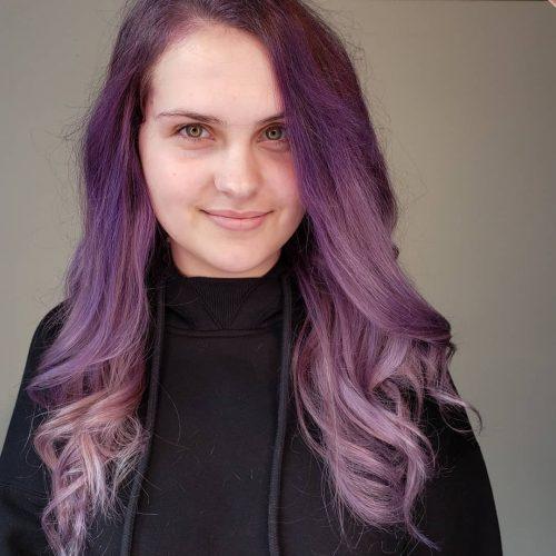Ombre violette foncée à claire