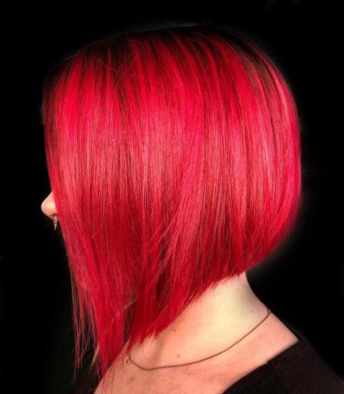 Cheveux courts roux vif