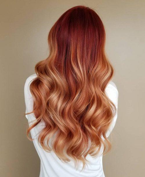 Rouge coquelicot à brun clair