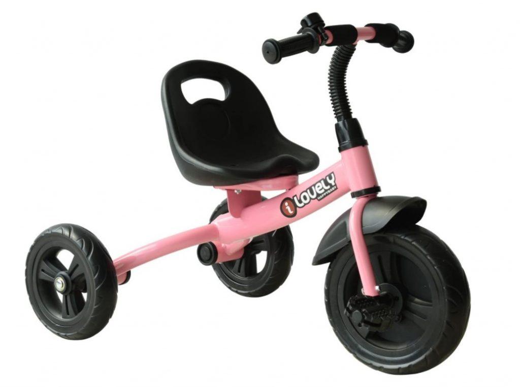 HOMCOM Baby Kids Toddler Tricycle Ride on 3 Wheels Bike (Rose)