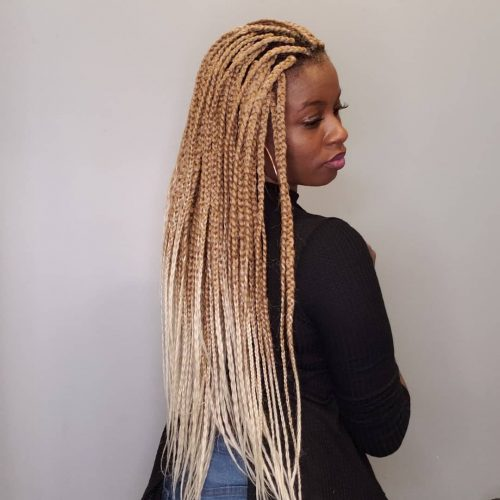 Tresses blondes ombreuses
