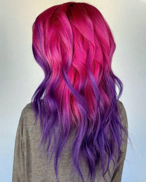 Rose et violet