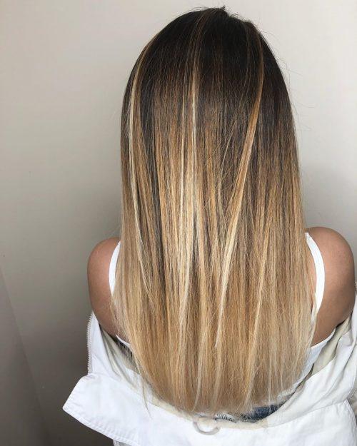 L'ombre classique brun foncé à blond pour les peaux bronzées