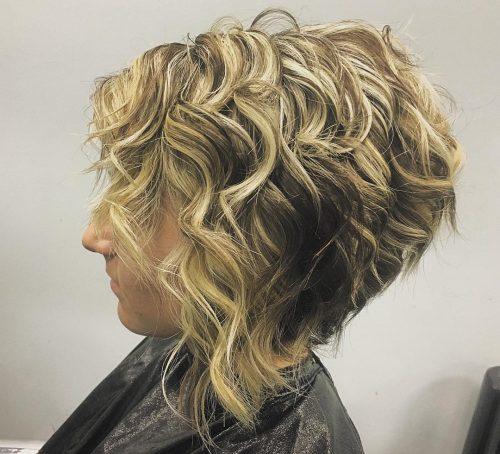 Ombre blonde à brune sur cheveux courts